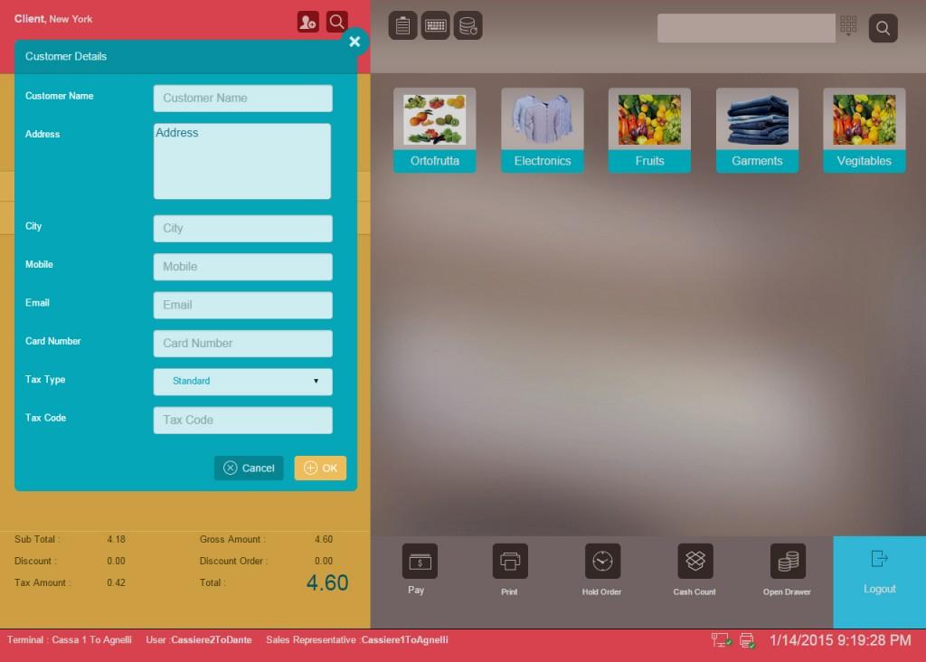 Customer Entry Window in VIENNA Advantage Retail ERP Software