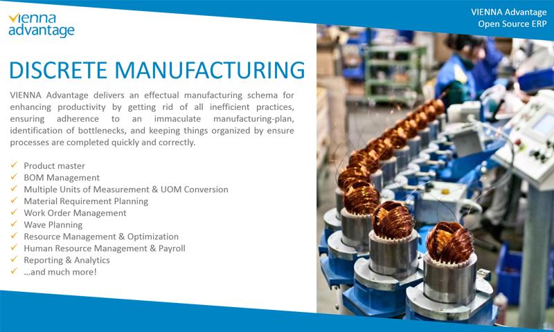 Discrete Manufacturing ERP-VIENNA Advantage